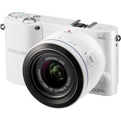Samsung NX1000 20.3 Megapixel Mirrorless Camera has High Speed Capture images in total focus.  Transforms shooting video with a still camera into an art form. The mirrorless CMOS image sensor offers precise auto focus even while you shoot. Save photos and videos directly to a computer or cloud service while you shoot. Panoramic capabilities let you catch every detail on the horizon with the push of a button. You can even create 3D panoramic photos.
