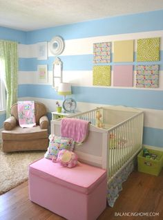 Girl Bedroom with DIY Crafts(this could start out great for neutral and then go boy/girl)