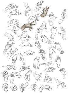 Some hand studies done today, for some reason I ended up doing just female. Prolly do some male ones tomorrow. I focused more on capturing and learning their basic forms rather than do clean render...