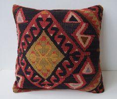 Anatolian turkish  Rug Pillow Cover (kilim). $59.00, via Etsy.