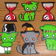 Halloween perler beads by adobixartsandcreations