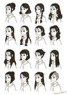 Female airbender hairstyle ideas! - Macky Draws!