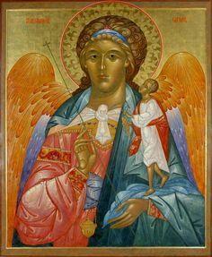 Archangel Raphael with Tobias Orthodox icon