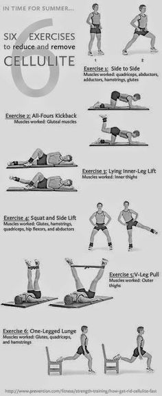 Six exercises to remove cellulite | Healthy fitness and beauty