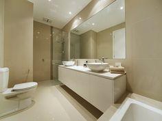 Modern bathroom design with corner bath using ceramic - Bathroom Photo 445999