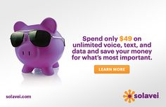 For only $49 per month you get Unlimited calling, text , and data on a major 4G network with no Contract #solavei #iphone #unlimitedcalling #bestunlimitedservice #bestunlimitedplan