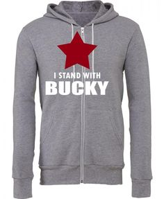 I Stand With Bucky Zipper Hoodie