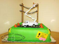 "Lineman's Groom Cake ~ ""This Cake Mama's Creations"""