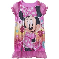 Minnie Mouse Baby Toddler Girl Short Sleeved Nightgown