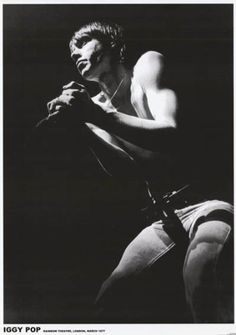 Iggy Pop and The Stooges Live With by VintagePosterPlace on Etsy