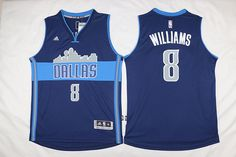 Dallas Mavericks #8 Williams Blue Men 2017 New Logo NBA Adidas Jersey