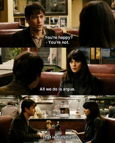 """You're happy?"" ~ (500) Days of Summer (2009) ~ Movie Quotes ~ #500daysofsummer #moviequotes"