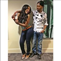 Yandy Smith and Mendeecees Harris (Mr. & Mrs. Harris - effective May 25, 2015). Like.... Seriously the cutest couple ever!!!!!