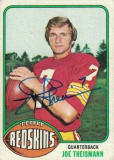 Find the best deal on Joe Theismann autographed items for your collection of Sports, Football memorabilia. Redskins Players, Redskins Football, Sport Football, Football Trading Cards, Football Cards, Robert Griffin Iii, Football Memorabilia, Football Wallpaper, Vintage Football