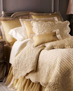 """Found the accessories here: """"Fanny"""" Quilts & Organza Accessories by Pine Cone Hill at Horchow."""