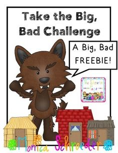 Three Little Pigs and the Big, Bad, Challenge! My kiddos loved taking this challenge after reading The Three Little Pigs!My kiddos loved taking this challenge after reading The Three Little Pigs! Three Little Pigs Houses, Kindergarten Stem, Preschool, Fairy Tales Unit, Traditional Tales, Traditional Stories, Stem Projects, Science Projects, School Projects