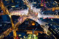 Gettyimages: London Aerial view of Piccadilly Circus by Jason Hawkes