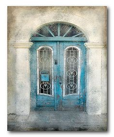 Another great find on #zulily! Teal Doorway Wrapped Canvas #zulilyfinds