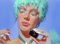 Cosmic Girl by CBedford on DeviantArt Arte Cyberpunk, Different Art Styles, Digital Painting Tutorials, Cosmic Girls, Pretty Art, Character Design Inspiration, Looks Cool, Portrait Art, Aesthetic Art