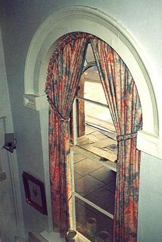 curved curtain rod for arched window