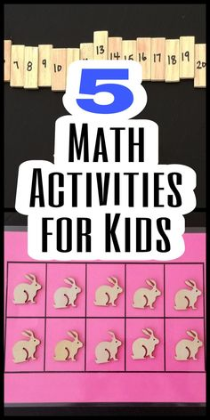Hands-on math activities and centres for young kids.  Get kids excited about math and learning, with these 5 engaging activities that teach basic math and number skills.     #mathcentres #mathcentresforkindergarten #mathgames #kindergartenmath #mathactivitiespreschool #handsonkindergartencentres #mathforkids