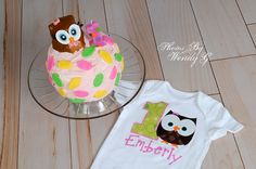 5d58df968a57e Items similar to FAST SHIPPER! New Baby Girl's First Birthday One Piece,  bodysuit Shirt, Owl, 1st Birthday on Etsy