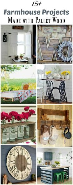 15+ Farmhouse Style Projects You Can Make with Pallet Wood - http://KnickofTime.net