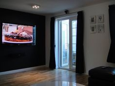 my lounge - now sporting a black feature wall