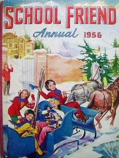 The School Friend Annual 1956 Magazines For Kids, Books For Teens, Children's Magazines, Childrens Christmas Books, Childrens Books, Vintage Children's Books, Vintage Comics, Childhood Toys, Childhood Memories