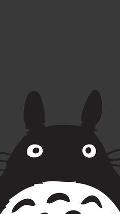 Download Totoro Minimal Art Illustration iPhone 6 Wallpaper