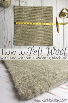Felting is the process in which fibers rub together and fuse, turning into a more dense fabric than possible in its raw, wooly state. Let me show you how!