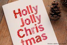 Christmas Alphabet, hand painted by swiejko on @creativemarket