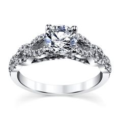 Jeff+Cooper+14K+White+Gold+Diamond+2MM+Engagement+Ring+Setting -- for some reason I find this stunning