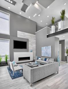 Home Room Design, Dream Home Design, Modern House Design, Living Room Designs, Dream House Interior, Luxury Homes Dream Houses, Living Room Decor Cozy, Home Living Room, Modern White Living Room