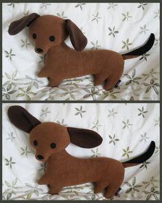 Dachshund by melkatsa.deviantart.com...I really want one!!!!!!!!!! TOO ADORABLE!