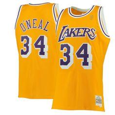 Shaquille O Neal Los Angeles Lakers Mitchell   Ness 1996-97 Hardwood  Classics Swingman f8f99b4b5