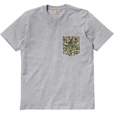 Carhartt Lambert Pocket tee-shirt à poche white palm print dark blue - black palm print paper - grey heather camo stain green #carhartt #carharttwip #carharttworkinprogress #skate #skateboard #skateboarding #streetshop #skateshop @PLAY Skateshop