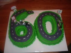 Classic Cars Over The Hill Birthday Cake Adult Birthday