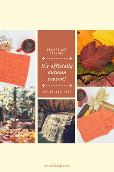 Fall into the season! Pattern featured: Spainhour Knitted Hats Kids, Knitted Baby Blankets, Kids Hats, Fall Knitting Patterns, Easy Knitting, Banner Elk, Fall Season, Pattern Design, Seasons