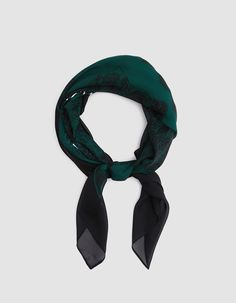 Scarf from NEED in Black and Green