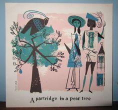 Alice & Martin Provensen Christmas card: Patridge in a Pear Tree