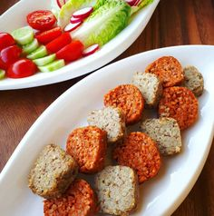 Vegas, Falafel, Sausage, Vegan Recipes, Food And Drink, Ethnic Recipes, Vegane Rezepte, Sausages, Falafels