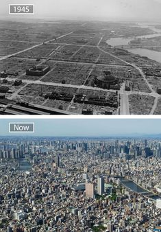Then and Now, Cities Transformation. Tokyo, Japan ^ ^ ^ by @ Then And Now Pictures, Before And After Pictures, Old Pictures, Old Photos, Iconic Photos, Dubai, Trinidad, Tokyo Ville, World Cities