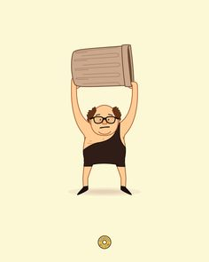 Frank Reynolds - The Trash Man Illustration Art Print by Donutglow   Society6