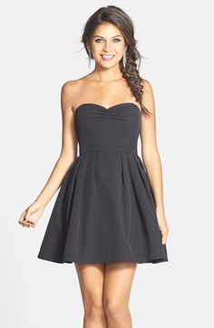 a. drea Lace Back Fit & Flare Dress (Juniors) available at #Nordstrom