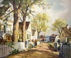 """Summer Sunlight, Cape Cod,"" John Hare, oil on canvas, 25 x 30"", private collection."