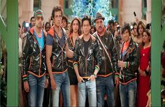 All Star Cast of Happy New Year Movie in Balck Coat HD Photos