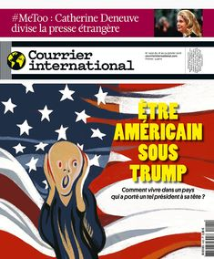 Ivan Canu's Munch-inspired cover illustration for French newsweekly magazine, Courrier international is a concise assessment of America in the age of Trump.