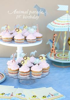 Animal parade 1st birthday | Land of Nod party decor kids | 100 Layer Cakelet