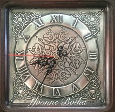 Pewter clock face by Yvonne Botha - Mimmic Gallery and Studio